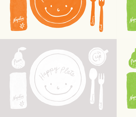happyplate place mats fabric by decoylab on Spoonflower - custom fabric