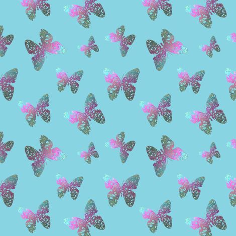 Flutter bye 3 fabric by su_g on Spoonflower - custom fabric