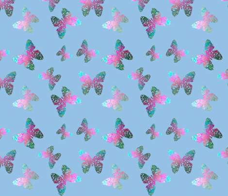 Flutter bye 4 by Su_G fabric by su_g on Spoonflower - custom fabric