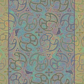 ©2011  Shower Curtain - Bird Motif - Champagne Sky
