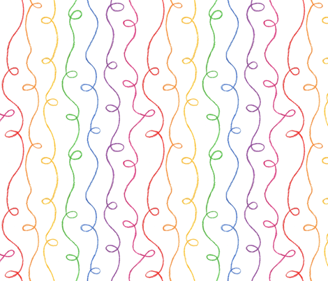 Rainbow Doodles fabric by jenimp on Spoonflower - custom fabric