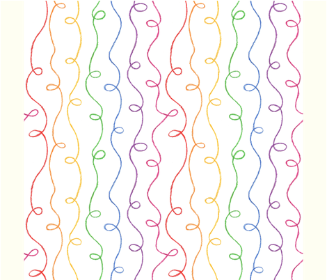 Rainbow Doodles Napkin (FQ) fabric by jenimp on Spoonflower - custom fabric
