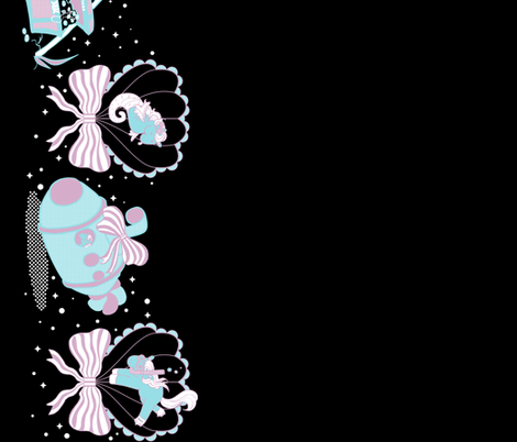 Lovely Horse Derpy Chan: Deep Seas fabric by gabi-hime on Spoonflower - custom fabric