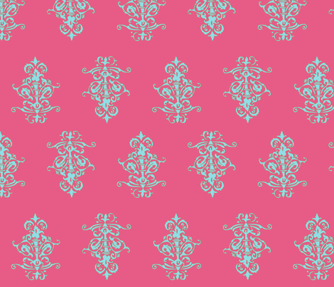 midcentury baroque - honeysuckle fabric by tractorgirl on Spoonflower - custom fabric