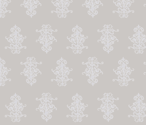 midcentury baroque - warmgrey fabric by tractorgirl on Spoonflower - custom fabric