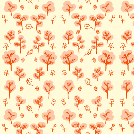 Trees and Leaves fabric by emuattacks on Spoonflower - custom fabric