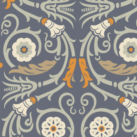 Acanthus Rinceau 1c fabric by muhlenkott on Spoonflower - custom fabric