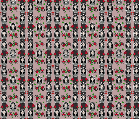 aunt abigail's cameo fabric by curt on Spoonflower - custom fabric