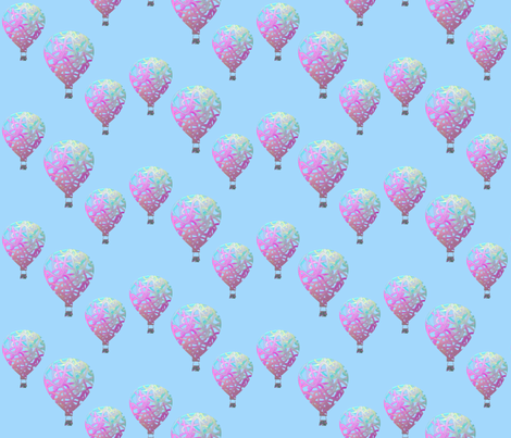 Sky balloons light fabric by su_g on Spoonflower - custom fabric