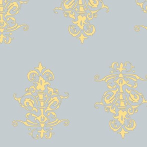 midcentury baroque - grey gold
