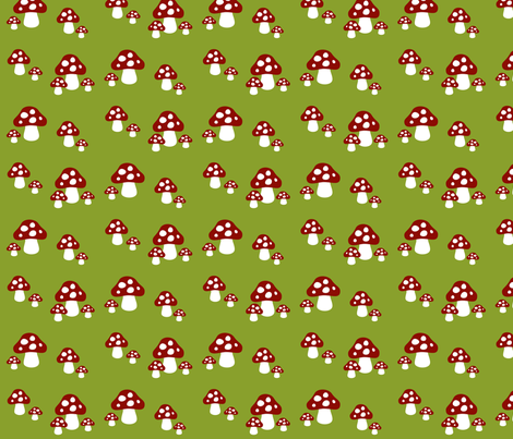 Gnome Mushrooms fabric by mayabella on Spoonflower - custom fabric