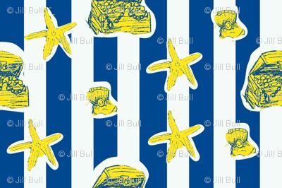 sea stars and stripes (sunken treasure)