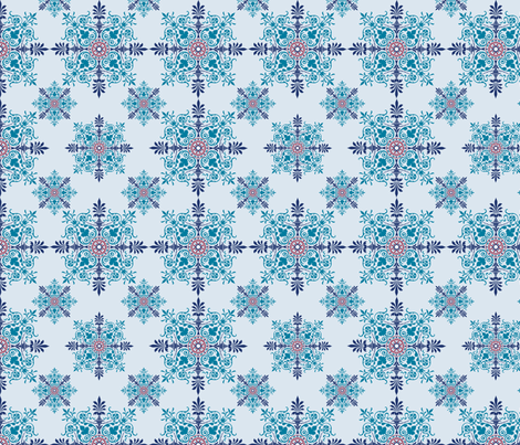 Victorian Parlor Walls - Blues fabric by studiofibonacci on Spoonflower - custom fabric