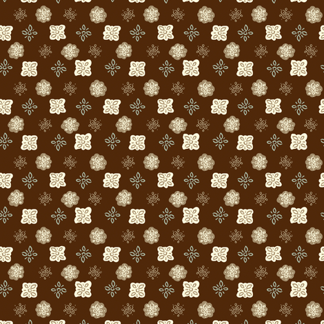 Snowflake- chocolate fabric by 1stpancake on Spoonflower - custom fabric