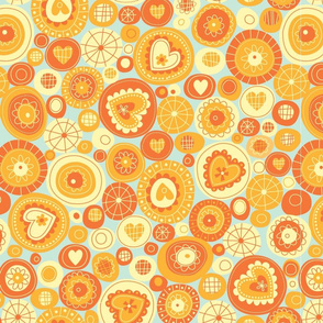 orange fun circles
