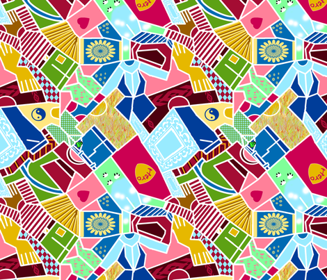 Laundry Sorting (large scale) fabric by eclectic_house on Spoonflower - custom fabric