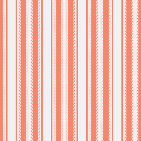 Coordinate Lacey Stripe - Curliques Coral - Deep Coral  fabric by glimmericks on Spoonflower - custom fabric