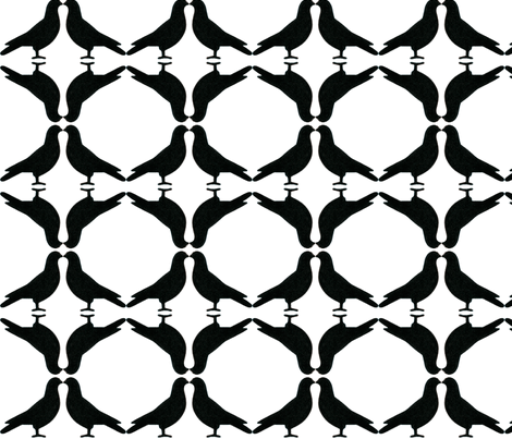 PigeonCircles-B&W fabric by relative_of_otis on Spoonflower - custom fabric