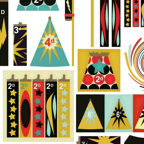 retro packaged fireworks fabric by scrummy on Spoonflower - custom fabric