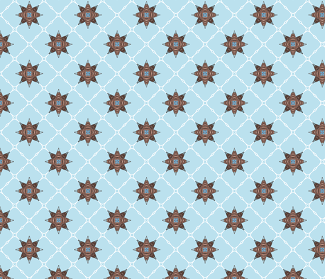 Netbomb - blue fabric by siya on Spoonflower - custom fabric