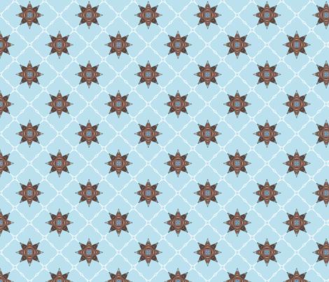 Netbomb - blue fabric by siya on Spoonflower - custom fabric