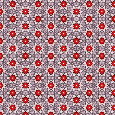 Sangres's Rubystar fabric by siya on Spoonflower - custom fabric
