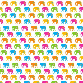 funky floral elephants