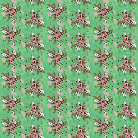 Country Roses  fabric by joanmclemore on Spoonflower - custom fabric