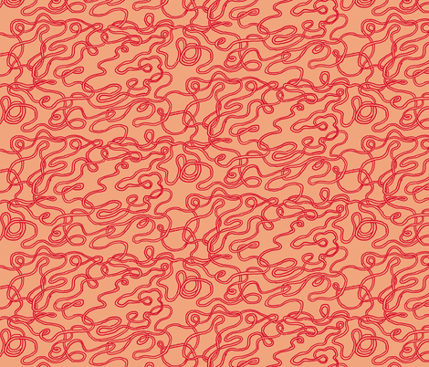 Sriracha Noodles fabric by emuattacks on Spoonflower - custom fabric