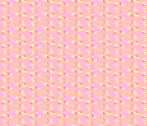 Roses pink leaves fabric by joanmclemore on Spoonflower - custom fabric