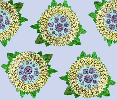 ladybird sunflower fantasy fabric by jaja on Spoonflower - custom fabric