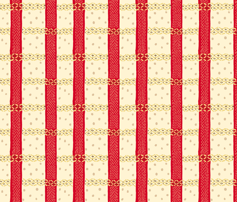 Ramen Plaid fabric by emuattacks on Spoonflower - custom fabric