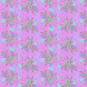 Roses purple background