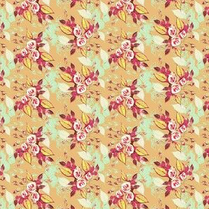 Roses Beige background