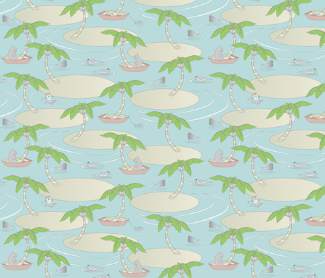 © 2011 Seaesta fabric by glimmericks on Spoonflower - custom fabric