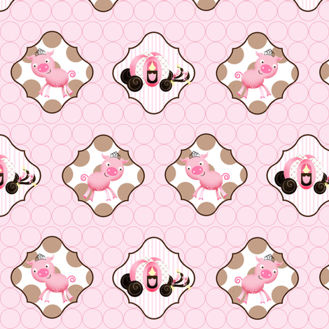 Princess Piggie fabric by natitys on Spoonflower - custom fabric
