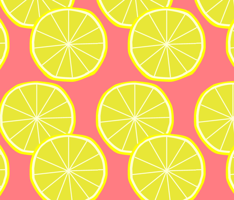 lemon fabric by slkanitz on Spoonflower - custom fabric