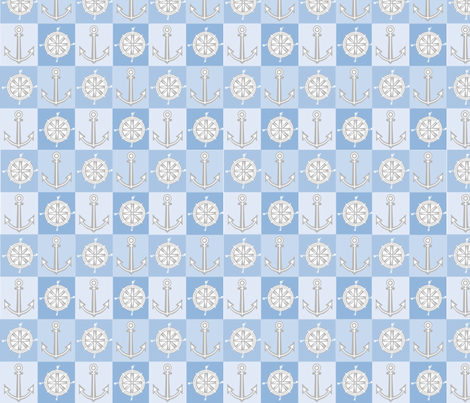 baby anchor fabric by bussybuffu on Spoonflower - custom fabric