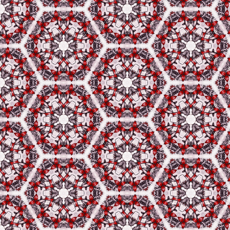 Sangres's Hexagons fabric by siya on Spoonflower - custom fabric
