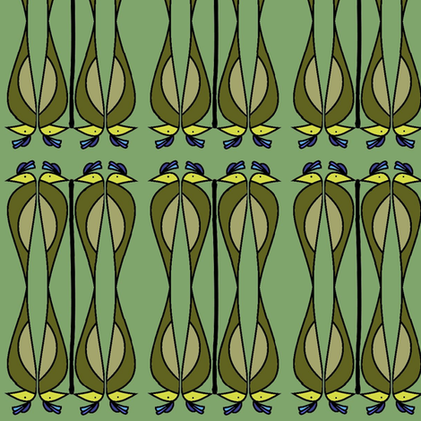 Nile (Green) fabric by david_kent_collections on Spoonflower - custom fabric
