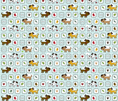 Dog Park fabric by tradewind_creative on Spoonflower - custom fabric