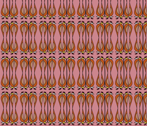 Nile (Pink) fabric by david_kent_collections on Spoonflower - custom fabric
