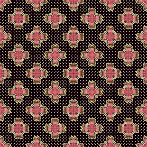 Ozrin's Crosses - Dark fabric by siya on Spoonflower - custom fabric