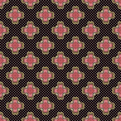 Ozrin's Crosses - Dark fabric by siya on Spoonflower - custom fabric