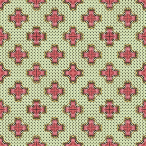 Ozrin's Crosses - Green fabric by siya on Spoonflower - custom fabric