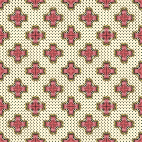 Ozrin's Crosses - White fabric by siya on Spoonflower - custom fabric