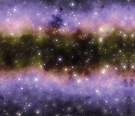 The Milky Way fabric by animotaxis on Spoonflower - custom fabric