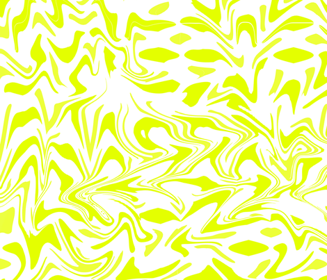 Lime yellow marbelling fabric by sew_delightful on Spoonflower - custom fabric