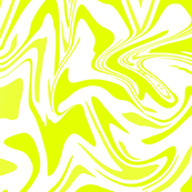 Abstract Lime-Yellow Marbling Swirls
