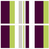 Lined Grid of blocks in Green Purple and grey